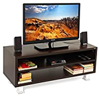 Product Dimensions: Length (109cm) x Breadth (40.5cm) x Height (43cm). Made of Particle Board (High grade prelam engineering wood with natural wood grain finish.) Product Color: Wenge, Product Style: Contemporary | Weight: 17 Kgs | Ideal TV Size- Upt...