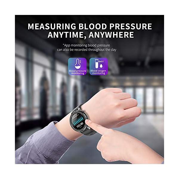 Reloj Inteligente Hombre, Smartwatch con Pantalla táctil, Fitness Tracker Impermeable IP68, Reloj Pulsometro Deportivo… 8