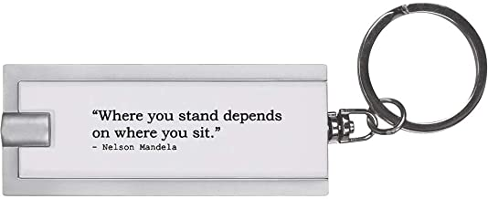Quote by Nelson Mandela Keyring LED Torch (KT00004307)