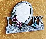 VIOY Espejo Decorativo Gancho de Pared Colgante de Madera Perchero Pared Retro Detrás del Porche de la Puerta,como se Muestra,Una Talla