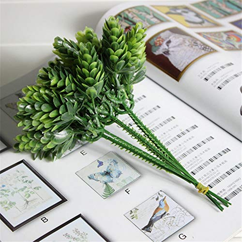 Flower Flower - 1 boeket 6 stuks Home Decor Simulatie Green Leaf Grass Plant Pineapple Kunstbloem - Dresses Flower Green Dress Parume Flowers Girl Kunstmatig Leger Groen