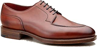 Costoso Italiano Brown Leather Formal Lace Up Brogue Derby Goodyear Welted Shoes for Men