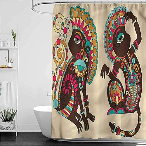 Tenda da doccia con vernice spray per labbra sexy a pois per la cura dell'arte Tenda da bagno facile da pulire 180 * 180 cm Tessuto in poliestere stampato impermeabile e antimuffa per tenda da do