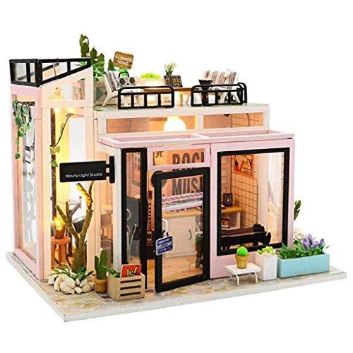 XZJJZ Mini-Haus-Möbel-Kit mit Möbel und Zubehör-Home-Dekor-Super Fun Spielset-kreative Geburtstag for Jungen und Mädchen