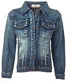 Ipuang Girls' Casual Denim Jacket Indigo 12