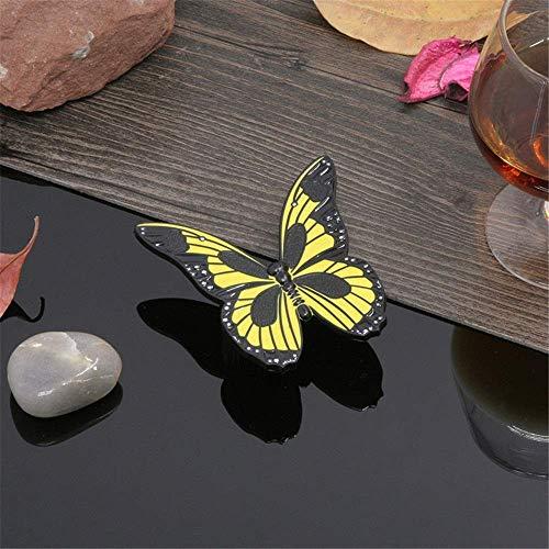 Zink-legering kabinet handvat Butterfly knop metalen zinklegering knoppen kast lade kast dressoir Pull handvat knop voor kasten garderobe meubeldeur (kleur: lichtgroen, Maat : 32mm)