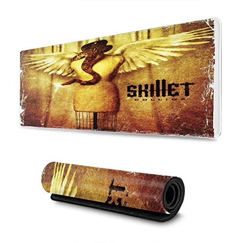 Skillet Collide Mouse Pad Anime Mouse Mat For Home 31.5inx11.8in
