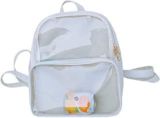 Children Candy Color Rucksack Kids Satchel School Backpack Double Window Bag Beige