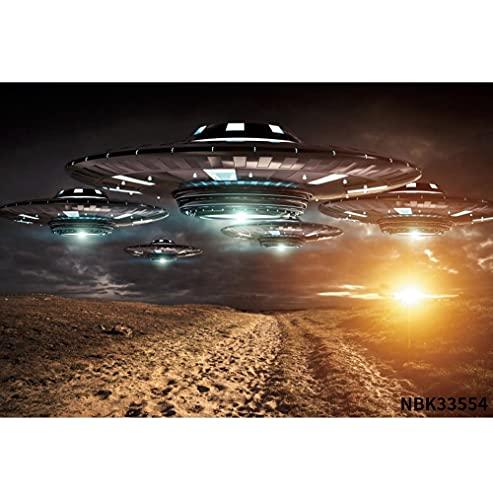 Fondos de fotografía de Nave Espacial UFO superhéroe Universo Photocall Fondos fotográficos Personalizados para Estudio fotográfico A1 3x3m