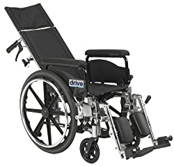 Best Narrow Width Self Propelled Wheelchairs # 4 - Drive Medical Full Reclining Wheelchair Viper Plus