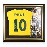 exclusivememorabilia.com Camiseta de Brasil firmada por Pele. Marco Premium