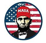 Abe Lincoln Wearing MAGA Hat Make America Great Again Trump Vinyl Decal Sticker