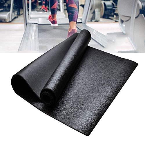Matte für Laufbänder, Heimtrainer, Ellipsentrainer, Crosstrainer, Fitnessgeräte und Übungen Matte, Antirutschmatte Antivibrationsmatte Bodenschutzmatte für Laufbänder 220×60.5cm
