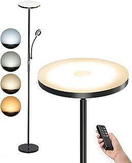 Anten Lampadaire LED avec Liseuse 30W + 5W | Lampadaire Dimmable 3000K - 6500K 2000lm | Lampadaire avec Télécommande pour ...