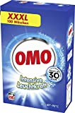 Omo Vollwaschmittel für strahlende Sauberkeit Intensive Leuchtkraft XXXL mit Leuchtkraft-Booster...