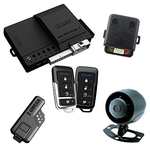 Excalibur AL1670B 1-Way Paging Remote Start/Keyless Entry/Vehicle Security System (with 4 Button Remote and Sidekick Remote), 1 Pack