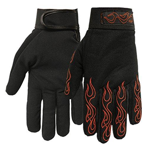 Hot Leathers guantes de mecánico con rojo llamas