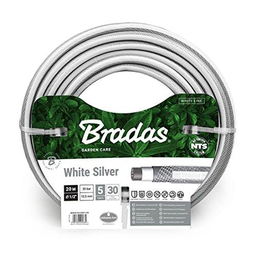 """Preisvergleich Produktbild Gartenschlauch 1 / 2"""" 30m NTS knickfest verdrehungsfest Wasserschlauch White Silver WWS1 / 230 BRADAS 5342"""