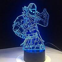 3D LED錯視ランプ スキン7色タッチスイッチテーブルデスクライトアクリルルーム照明ゲームギフト