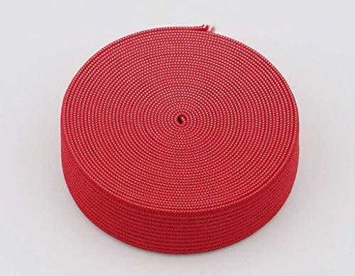 18 mm breed, 3 meter lang, elastisch lint voor naaien en knutselen - Spoel van elastische platte band voor kleding - Rekbaar koord voor rokken en broeksband-rood-3Meter-2cm