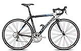 Torpado Temeraria, bicicleta de carreras, de aluminio y carbono, 10velocidades, talla 51, negro y blanco (carrera de carretera)