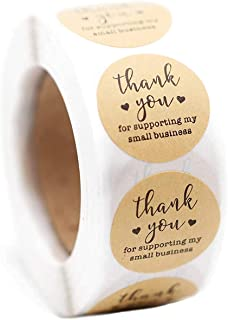 """Thank You for Your Order Stickers / 500 1"""" Labels, Business Stickers, Natural Brown Kraft Stickers, 500 Labels Per Roll BI..."""