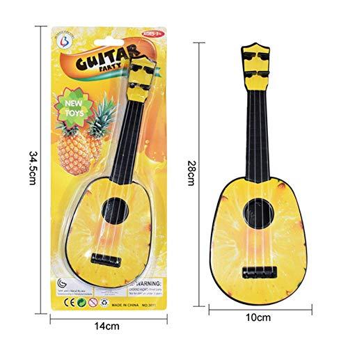 LEIXNDPLBO Leuke Simulatie Gitaar Baby Kinderen Muzikaal Speelgoed Instrumenten Kinderen Fantasiespel Spel Muziek Interessante ontwikkeling Speelgoed, 28 cm Ananas
