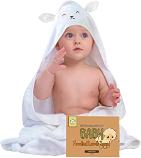 Baby Hooded Towel - Bamboo Baby Towel by KeaBabies - Organic Bamboo Towel - Infant Towels - Large Bamboo Hooded Towel - Baby Bath Towels with Hood for Girls, Babies, Newborn Boys, Toddler (Lamb)