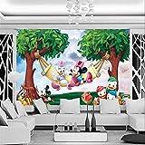 QJCBH Papier Peint 3D Auto-Adhésif (W) 200X (H) 150Cm Personnages Mignons Anime Mouse Photo Fond D'Écran Bande Dessinée Murale Papier Peint Enfants Garçon Fille Chambre D'Enfants Art Chambr