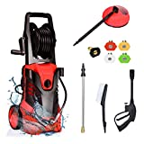 Goplus 3000PSI Electric Pressure Washer, Portable High Power Washer w/ 5...