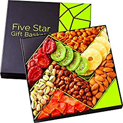 Five Star Gift Baskets, Holiday Fruit and Nuts Gift Basket