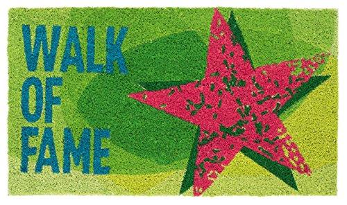 Bavaria Home Style Collection Paillasson coco Walk of Fame | Paillasson étoile | Paillasson en coco pour intérieur et extérieur | Paillasson antidérapant | Dimensions : 40 x 60 cm