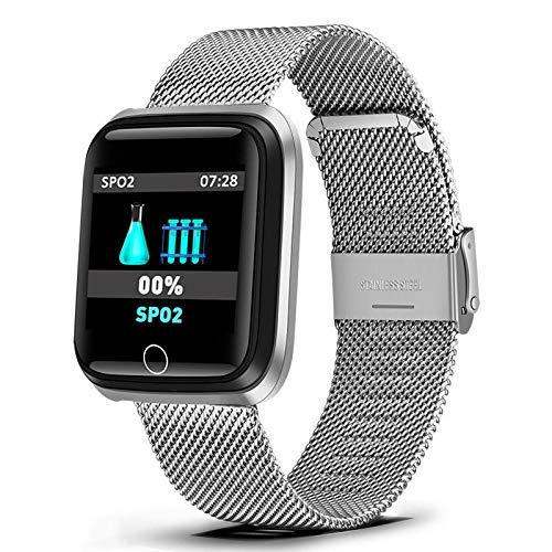 Armband heren/high-end roestvrij staal vergulde schelp/stappenteller/waterdichte hartslag monitoring/smart horloge + doos