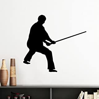 DIYthinker Shaolin Stick China Chinese Kung Fu Martial Art Monk Soldier Traditional Culture Illustration Pattern Silhouett...