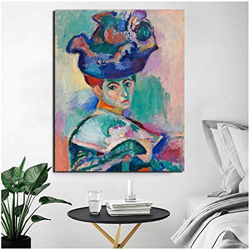 dubdubd Henri Matisse Frau Mit Hut Leinwand Malerei Druck WohnzimmerWohnkultur WandkunstÖlgemälde Poster Bild24X32 In No Frame