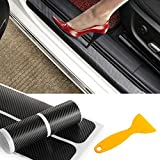 PAMISO 4pcs Car Door Sill Scuff Guard, Welcome Pedal Protect, Anti-kick Scratch for Cars Doors