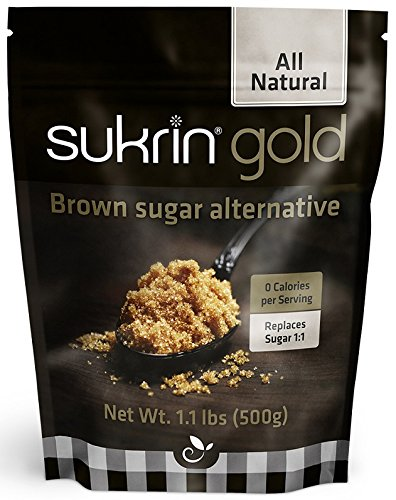 Sukrin Gold - Natural Brown Sugar Alternative - No Calorie Erythritol Sweetener for Keto, Low Carb and Diabetic Diets - 1.1 lb Bag (Single)