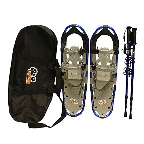 DePaw Man Woman Kid Snowshoes with Pole Free Bag 23inch