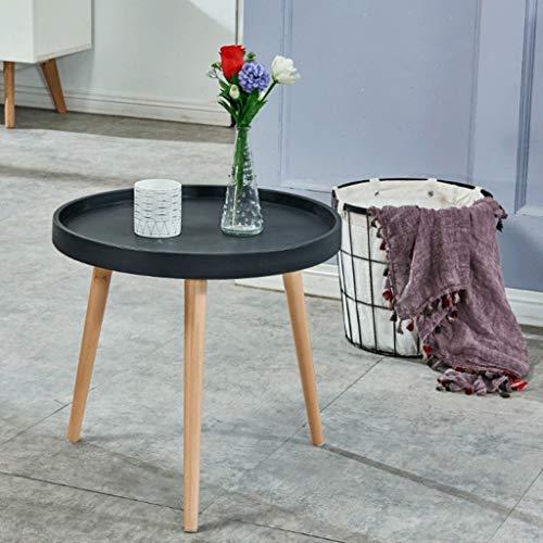Table Ronde Table Basse Jouet Table d'enfant Salon Table d'appoint Chambre Basse Chevet, Table de Travail en Bois Massif Multicolore (Couleur : Noir)