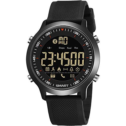 WangLx Watch Digitaluhr Schrittzähler Funktionsjungen-Mädchen Wasserdichte Sportuhr Digitaluhr stoßsichere Uhr mit LED-Lichtwecker Stoppuhr, Sport im Freien, Black