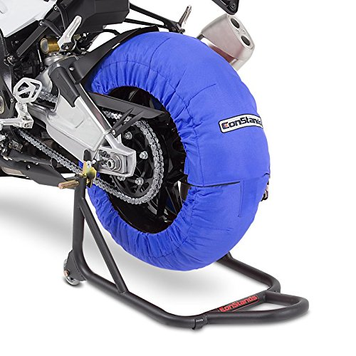 Couverture chauffante Pneu Set 60-80 C Bleu pour Honda CBR 1000 RR Fireblade/SP/SP-2
