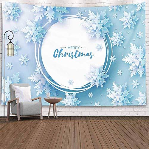 Tapiz para colgar en la pared, tapiz de dormitorio, decoración de la habitación, origami al aire libre, tarjeta de felicitación navideña, nevadas, papel cortado, tapiz de otoño, manta de playa, tapiz