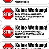 immi 12 Keine Werbung Aufkleber, in Weiß (weitere Auswahl) Briefkasten-Aufkleber