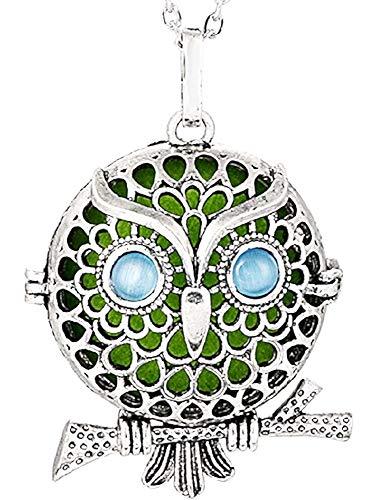 Ketting voor vrouwen - vrouw - uil - uil - geurig wattenstaafje - opening - aroma - parfum - zilver - kerstmis - origineel cadeau-idee