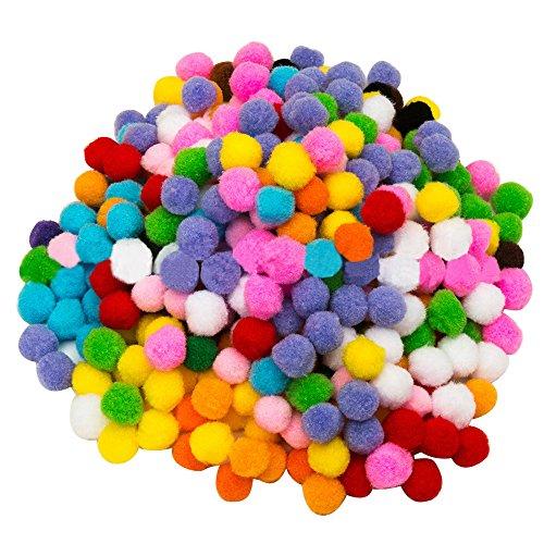 2000 PCS coloridos pompones BRICOLAJE para niños arte que hace afición suministros decoración 1cm de diámetro Color mezclado