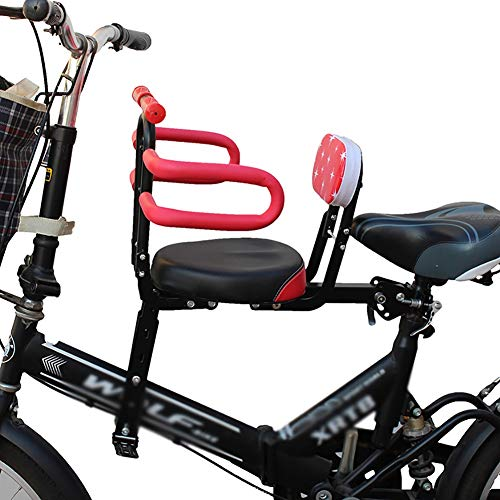 RRH Child Bike Seat Front Mount Cycling Child Seats,Semi-Fence Design, with Armrests, Foldable Child Bicycle Seat, Suitable for Unisex Baby (Size : #1)