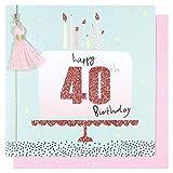 Paperchase Tarjeta de cumpleaños 40