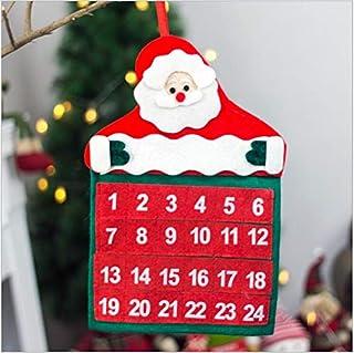 ANNIUP Calendario de Adviento, Cuenta Regresiva, Calendario único de Papá Noel, Regalo para Navidad, decoración del hogar, Cuenta Regresiva
