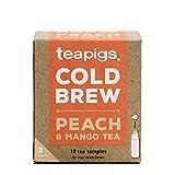 Teapigs Pfirsich und Mango Cold Brew, hergestellt aus ganzen Früchten (1 Packung mit 10 Teebeuteln)