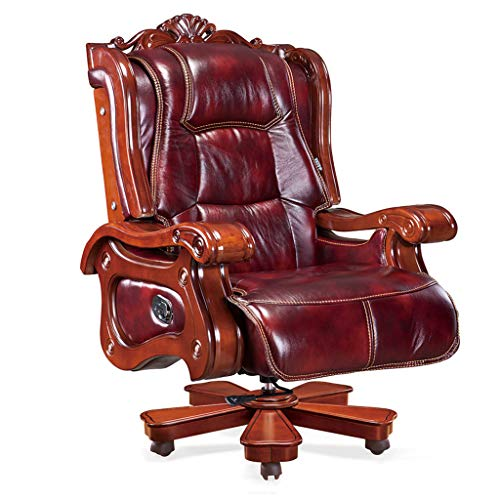 Directeursstoel met hoge leuning, bureaustoel, computerstoel, managersstoel met grote zitting, in hoogte verstelbaar, ergonomisch gevormd kantelmechanisme, draaibaar 36
